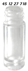 451227718 Gewindeflasche Kunststoff PP Mikrovial conical clear polypropylene screw vial limited 750µl residual 70µl Totvolumen 12x32mm 10 425 ND10 30710CP 1232C4010 14 CE GC HPLC 39
