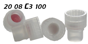 2008c3100 Stopfen Klar PE Flachbodenglas snap plug clear shell vial 8mm SIL-PTFE silicone lined 8x40mm ND8 N8 CE GC HPLC 72
