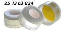 2513b3824 2513c3824 2513g3824 2513r3824 2513y38242 Schnappkappe Snap Top Caps Snap on cap snap seal push on Kappe 13mm SIL-PTFE geschlitzt single slit 11x43mm 15x45mm ND13 N13 CE GC HPLC 90 MULTI