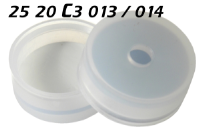 2520c3013 2520c3014 Schnappkappe Snap Top Caps Snap on cap snap seal push on Kappe 20mm SIL-PTFE 20x38mm 20.5x38mm 22x38mm 22x75mm 22.5x46mm 22.5x75mm 23x75mm 30x58mm ND20 N20 CE GC HPLC 75 MU