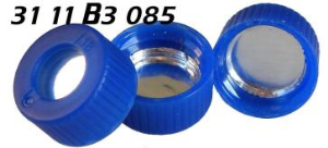 3111B3085 Schraubkappe Kunststoff PP blau blue screw cap wide mouth TPF total phthalat free seal closure Silikon ALU 0.06mm 9 425 ND9 15572300 09152487 C5000 56AL 60