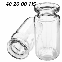 402000115 Boerdelflasche Rollrandflasche DIN 20mm HS headspace 20mm crimp vial Rundboden rounded bottom Klarglas clear 10ml 22.5x46mm CTC-Leap CombiPal HS500-800 HS2000 ND20 N20 CE GC HPLC 72
