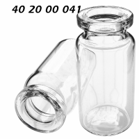 402000041 Boerdelflasche Rollrandflasche DIN 20mm HS headspace crimp vial Klarglas clear 10ml 22x45mm DANI ND20 N20 CE GC HPLC 72
