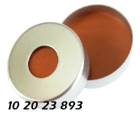 102023893 Boerdelkappe Stahlblech 20mm magnetisch HS headspace 8mm-Loch crimp cap metal magnetic SIL-orange-PTFE 3.0mm 10ml 20ml 22.5x46mm 22.5x75mm CTC-Leap CombiPal ND20 N20 CE GC HPLC 71