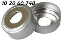 102060748 Bimetall Ring Boerdelkappe Alu silber N20mm Loch8mm magnetisch HS Headspace KombiPal composite silver bi metal crimp cap tin plate magnetic CTC CombiPal 20 MCBC GC 71