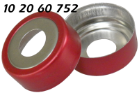 102060752 Boerdelkappe Alu-rot 20mm magnetisierbar HS headspace 8mm-Loch composite-red-crimp-cap bimetal tin-plate magnetic 10ml 20ml 22.5x46mm 22.5x75 CTC CombiPal 20-MCBC ND20 N20 CE GC 71