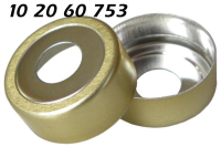 102060753 Bimetall Ring Boerdelkappe Alu gold N20mm Loch8mm magnetisch HS Headspace KombiPal composite bi metal crimp cap tin plate magnetic CTC CombiPal 20 MCBC GC 71