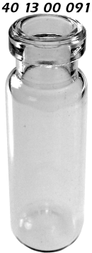 401300091 Boerdelflasche Rollrandflasche crimp vial snap vial Klarglas clear 4.0ml 15x45mm ND13 N13 CE GC HPLC 45