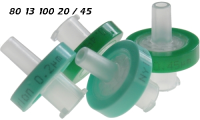 801310020 801310045 13mm PP hellgruen Spritzenfilter Einmalfilter 0.20my 0.45my PA Nylon hydrophil syringe-membrane-filter PA Nylon light-green hydrophilic CE GC HPLC 90