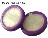 802540020 802540045 25mm PP lila Spritzenfilter Einmalfilter 0.20my 0.45my PES Polyethersulphone hydrophil syringe-membrane-filter light-violet hydrophilic CE GC HPLC 90